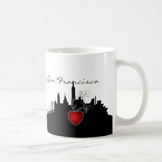 Black and White San Francisco Skyline Coffee Mug