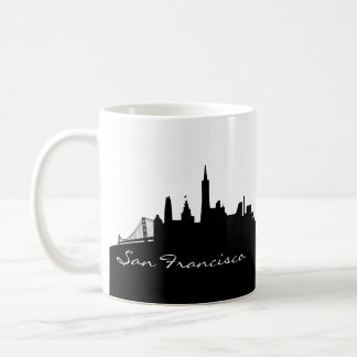 Black and White San Francisco Skyline Coffee Mug
