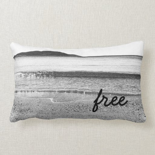 black and white sand beach lumbar pillow zazzle. Black Bedroom Furniture Sets. Home Design Ideas