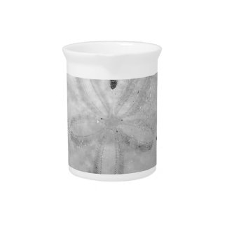 Black and White Sand Dollar Beverage Pitcher