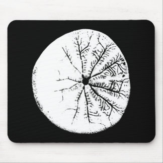Black and white sand dollar mouse pad