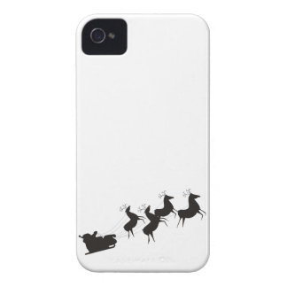 Black and White Santa And His Sleigh Case-Mate iPhone 4 Case