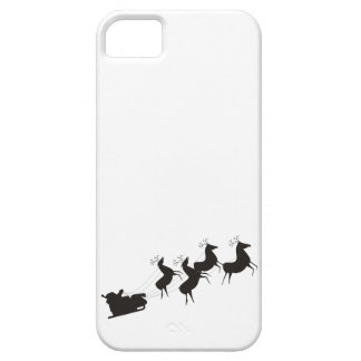 Black and White Santa And His Sleigh iPhone SE/5/5s Case