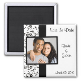 Black and White Save the Date Photo Magnets