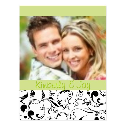 Black and White Save the Date photo postcards
