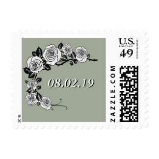 Black and White Save the Date Postage