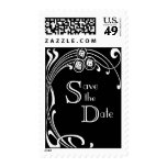 Black and White Save the Date Stamps