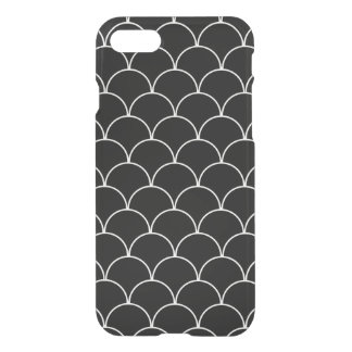 Black and White Scallop Pattern iPhone 7 Case