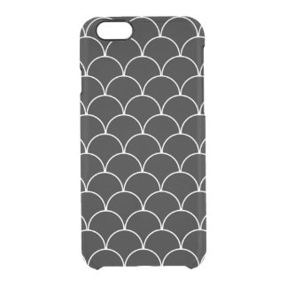 Black and White Scallop Pattern Uncommon Clearly™ Deflector iPhone 6 Case