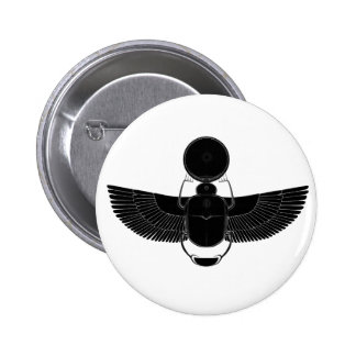 Black and White Scarab Pins
