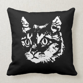 Black and white scatter cushion Cat -