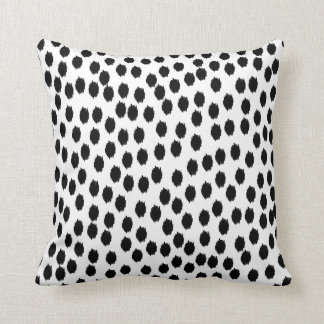 Black and White Scattered Dots Pillow