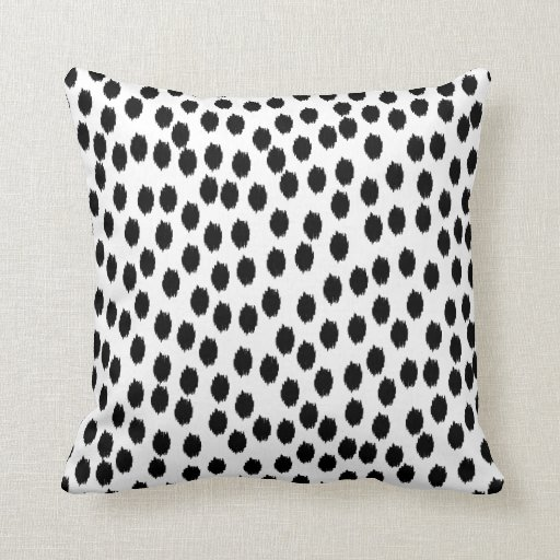 Black And White Scattered Dots Throw Pillow Zazzle