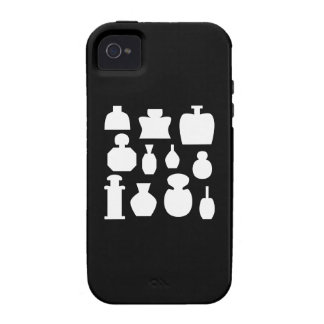 Black and White Scent Bottles Design. Case-Mate iPhone 4 Cover