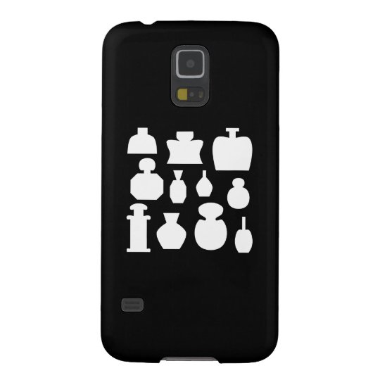 Black and White Scent Bottles Design. Galaxy S5 Cover