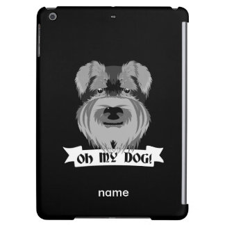 Black and White Schnauzer Oh My Dog Case For iPad Air