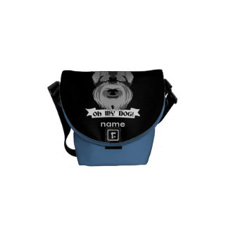 Black and White Schnauzer Oh My Dog Courier Bag
