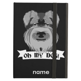 Black and White Schnauzer Oh My Dog iPad Air Cover