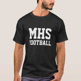 Black and White School Spirit Personalized Team T-Shirt