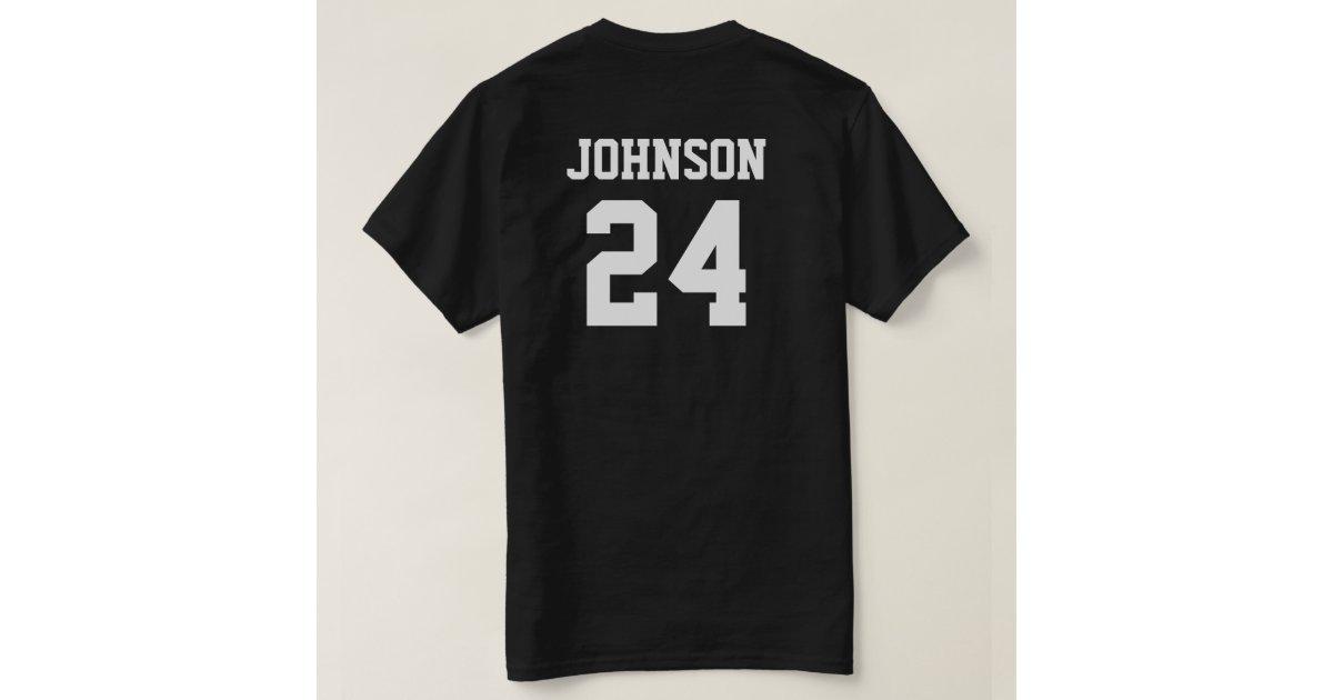 Black And White School Spirit Personalized Team Tee Shirt