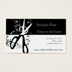 Black And White  Scissors Business Card at Zazzle