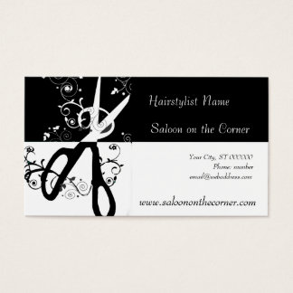 Black and White  Scissors Business Card