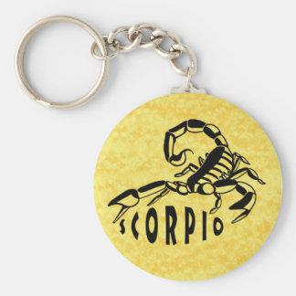 Black and White Scorpio Keychain