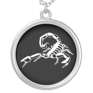 Black and White Scorpio Necklace