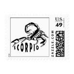 Black and White Scorpio Postage