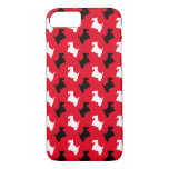 Black and White Scotties Personalize iPhone 7 Case