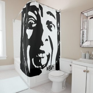 Screaming Face Shower Curtain
