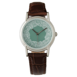 Black and White Scribbleprints Wristwatch