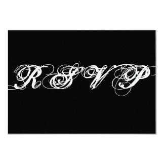 Black and White Script RSVP Cards Menu Choices
