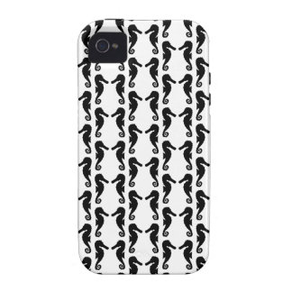 Black and White Seahorse Pattern. iPhone 4 Cover