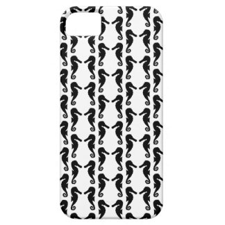 Black and White Seahorse Pattern. iPhone 5 Covers
