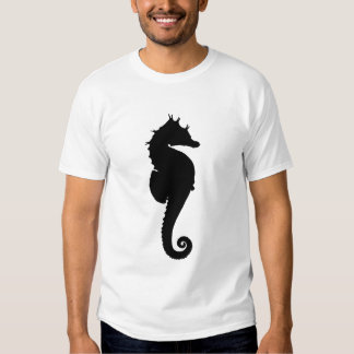 Black and White Seahorse T Shirt