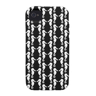 Black and White Seahorses Pattern. iPhone 4/4S Case