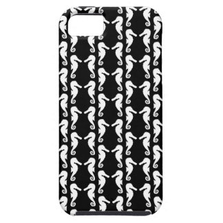 Black and White Seahorses Pattern. iPhone SE/5/5s Case