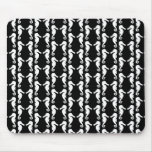 Black and White Seahorses Pattern. Mousepads