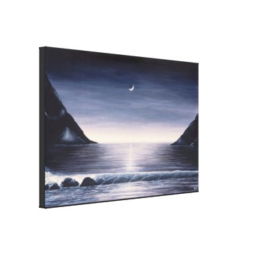 Beach Themed Black and white seascape painting on canvas