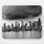 Black and white seattle mousepads