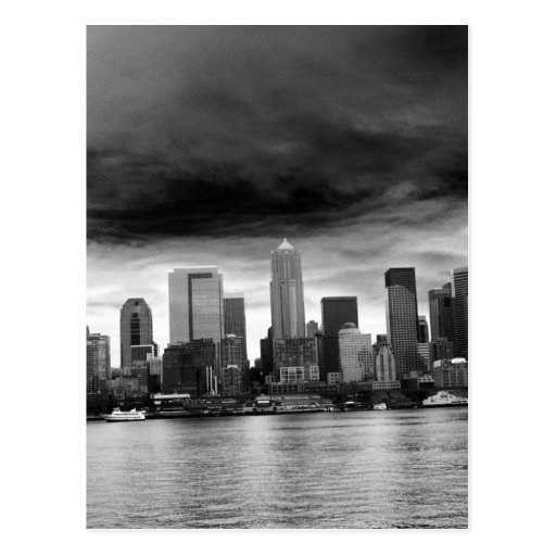 Black and white seattle post cards