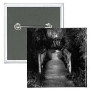 Black and White Secret Garden Photograph Button