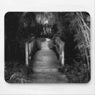 Black and White Secret Garden Photograph Mouse Pad