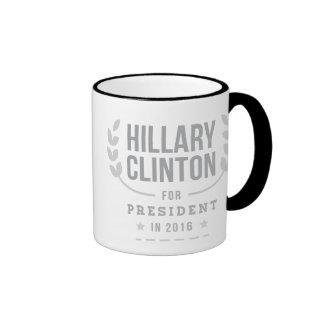 Black and White Sesame Hillary 2016 Ringer Coffee Mug