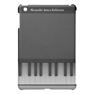 Black and White Shades Piano Keys Personalized iPad Mini Cover