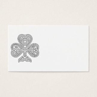 Black and White Shamrock Business Card