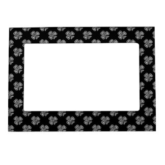 Black and White Shamrock Magnetic Picture Frame