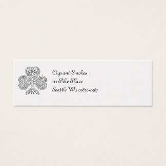 Black and White Shamrock Mini Business Card