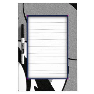 Black and White Shape Art Dry-Erase Board